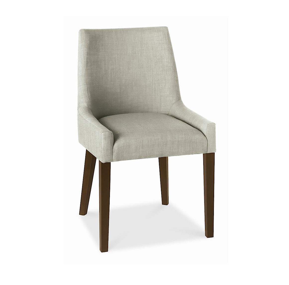 ALEX LINEN UPHOLSTERED DINING CHAIR WITH WALNUT LEGS -0