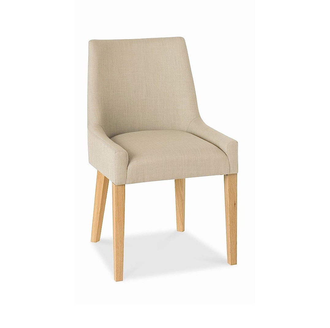 ALEX STONE UPHOLSTERED DINING CHAIR WITH OAK LEGS-0