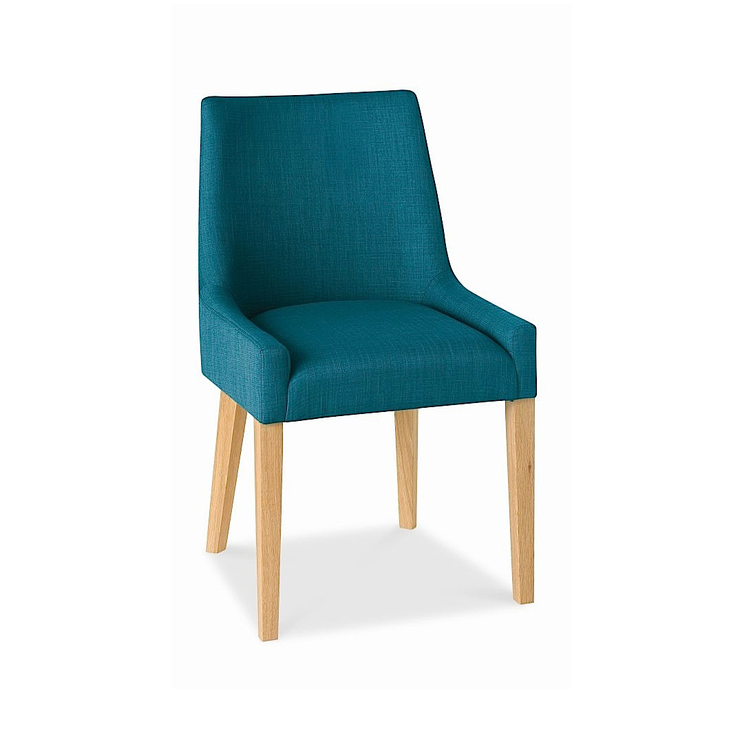 ALEX TEAL UPHOLSTERED DINING CHAIR WITH OAK LEGS-0