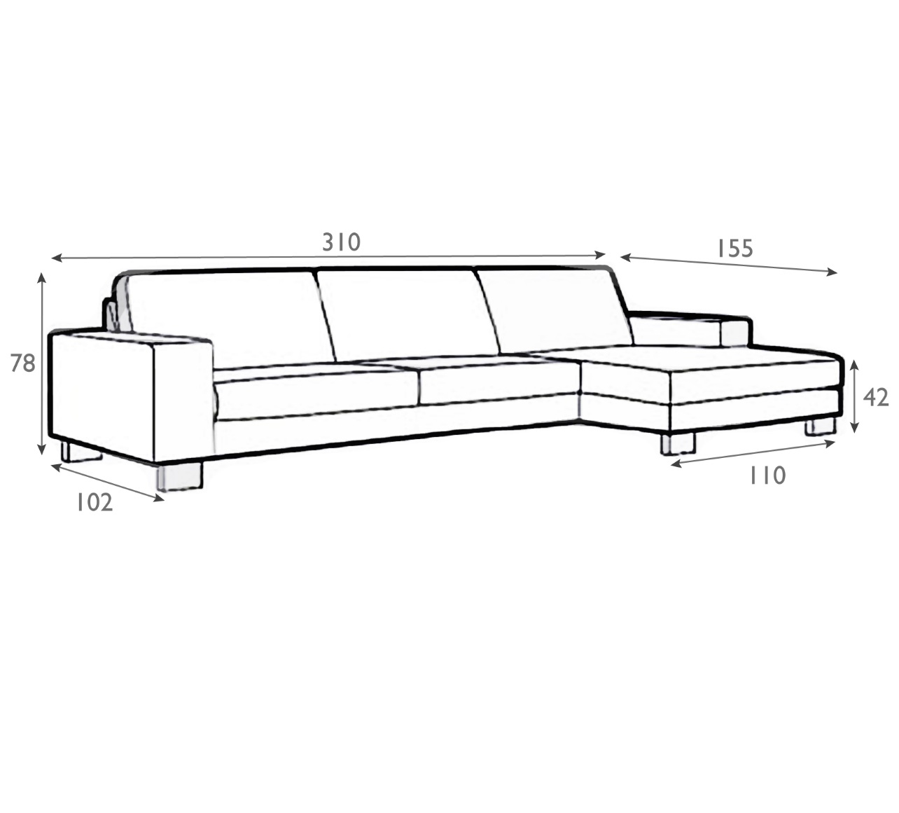 Lantana Set 2 Sofa With Chaiselongue-0