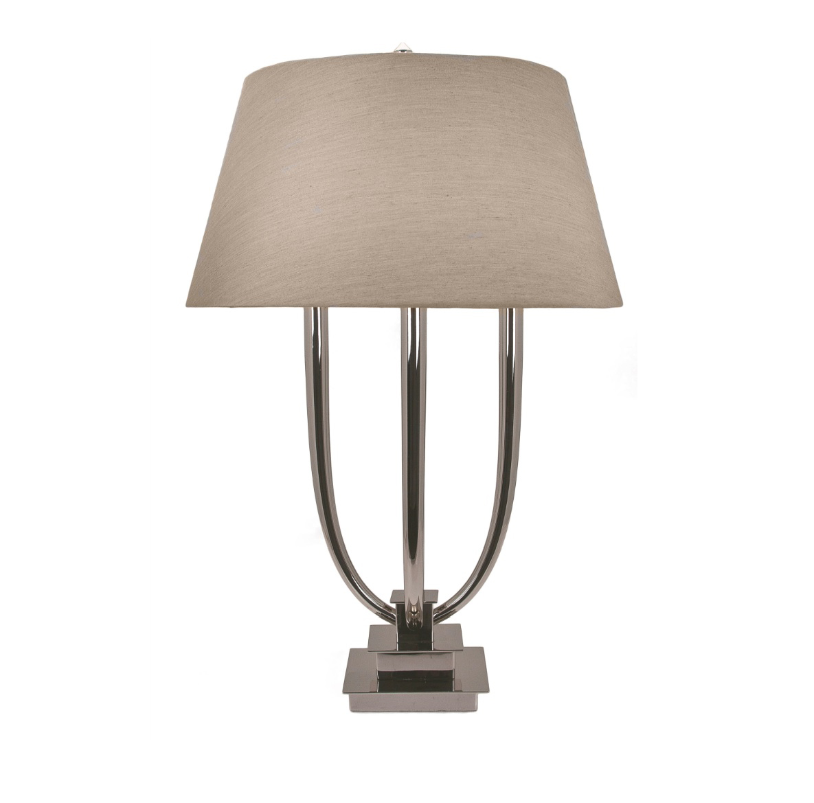 AMALFI NICKEL TABLE LAMP WITH SHADE-0