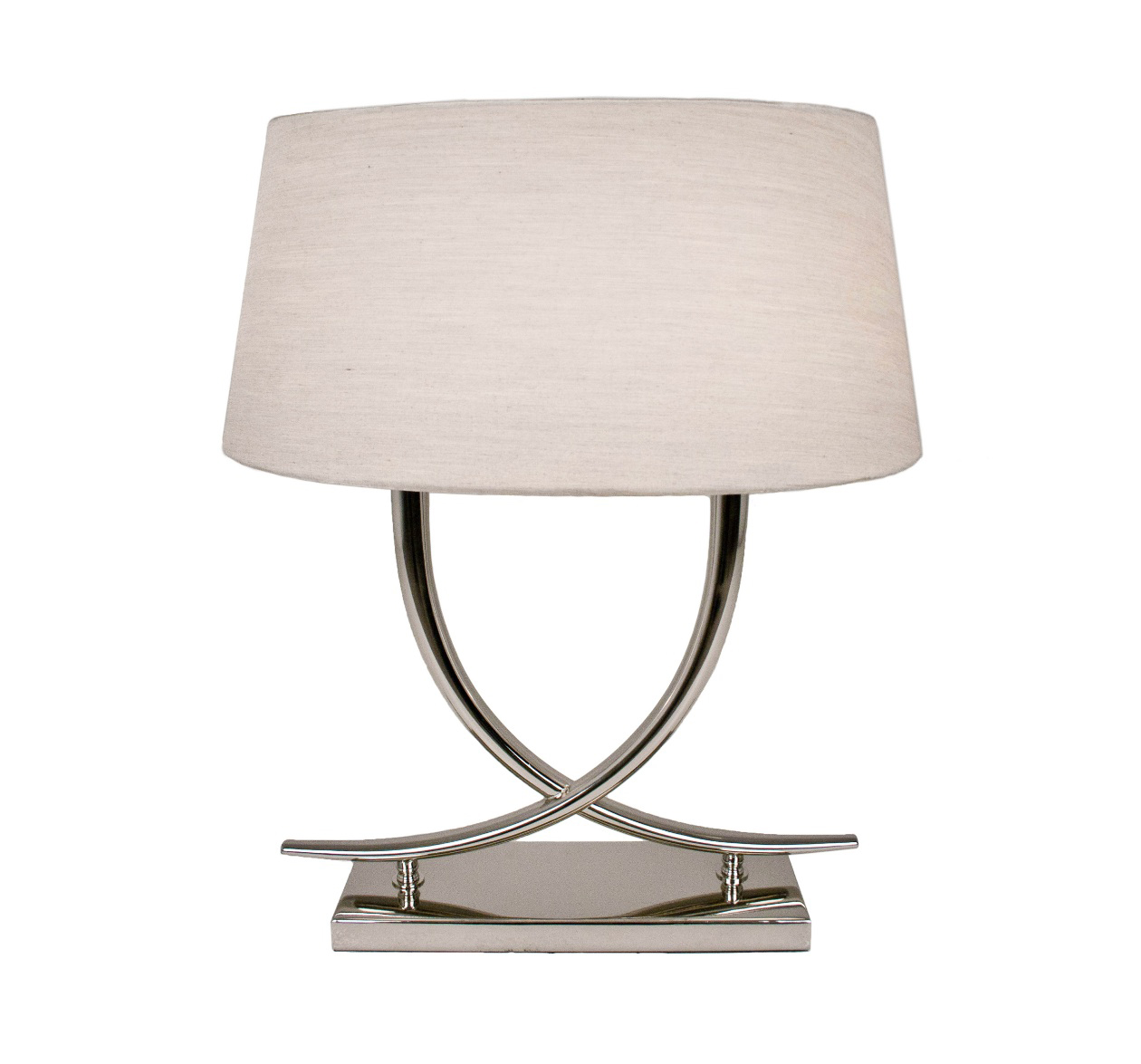 ARIA NICKEL TABLE LAMP WITH SHADE-0