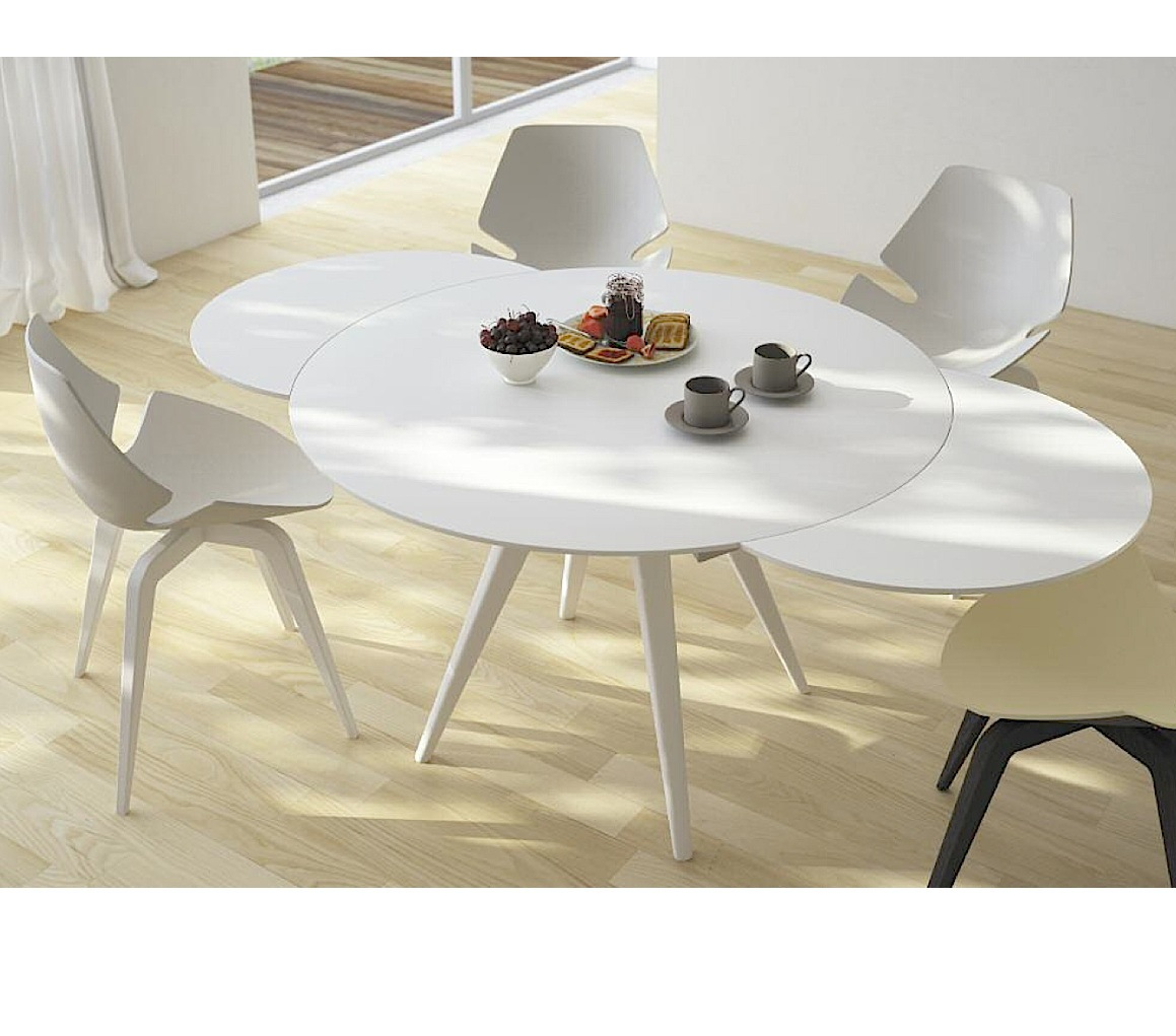 Elan Metallo Round Extending Dining Table-0