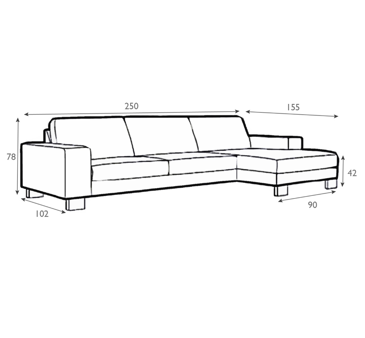 Lantana Italian Leather Set 1 Sofa With Chaiselongue-0