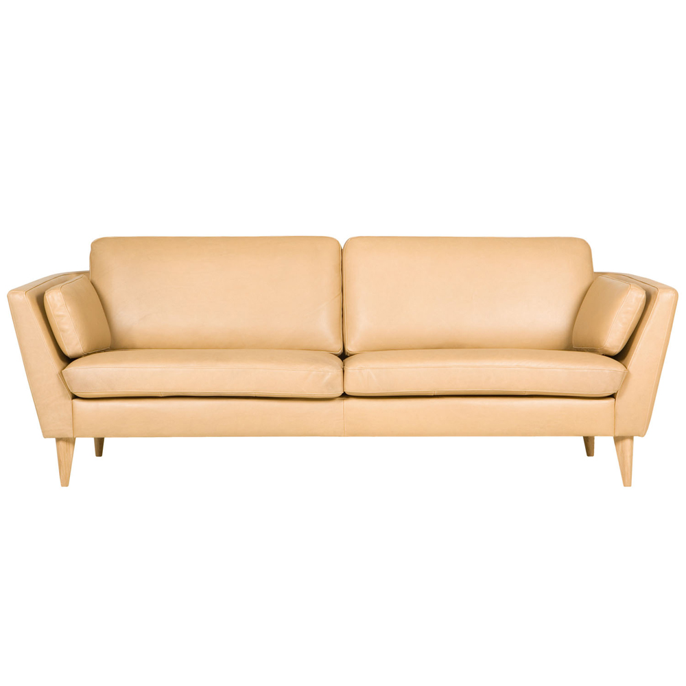 Ravenna Italian leather three seater Sofa-33540