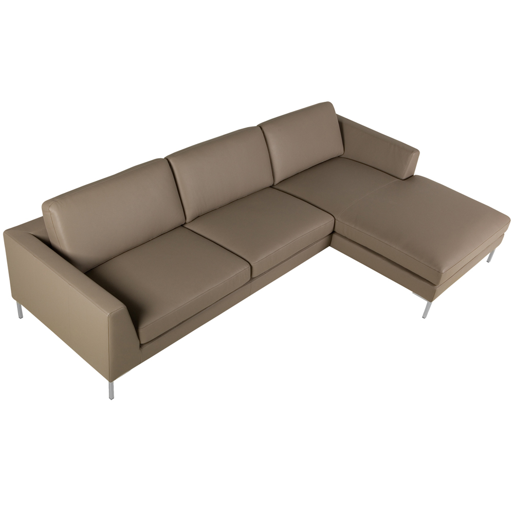 Allegra Italian leather Set 1 Sofa With Chaiselongue-33501