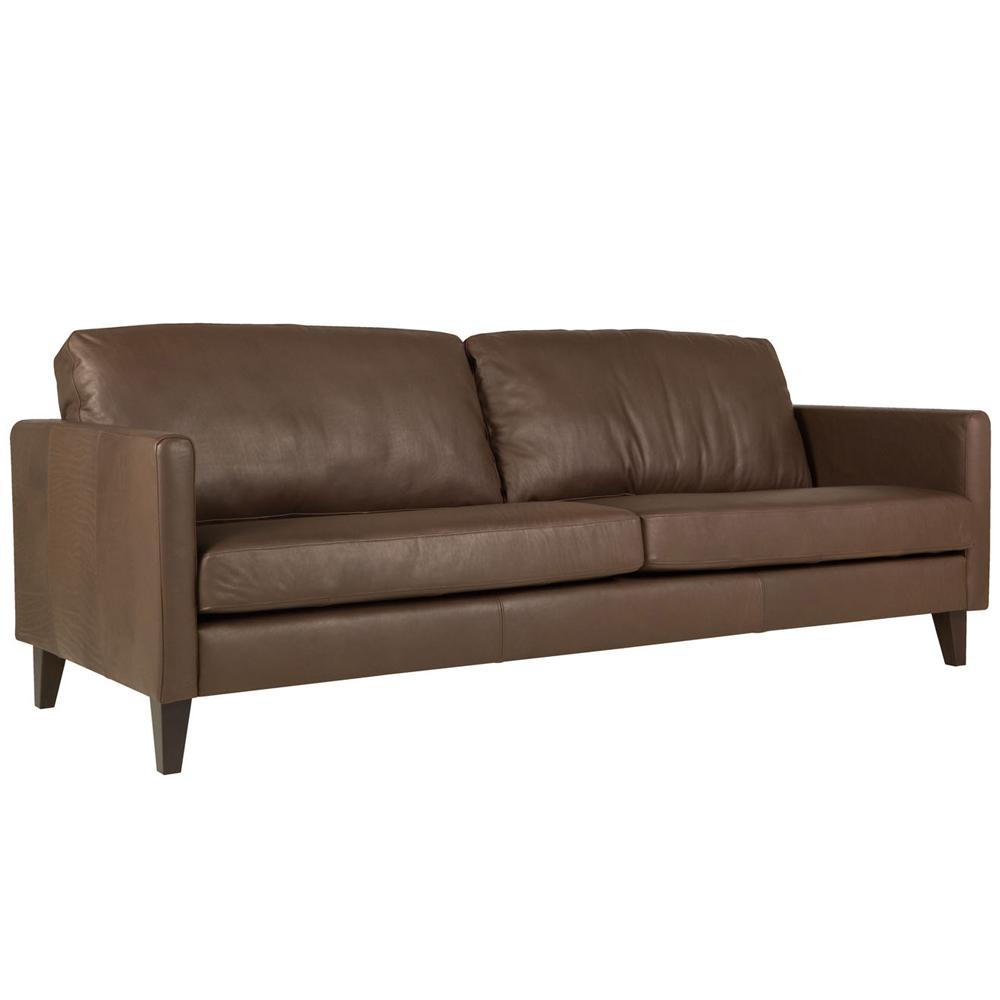 Meridian italian leather 2.5 Seater Sofa With Divan-0