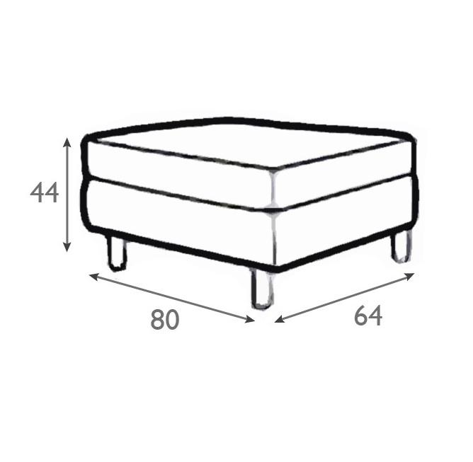 Meridian Italian Leather Footstool-0