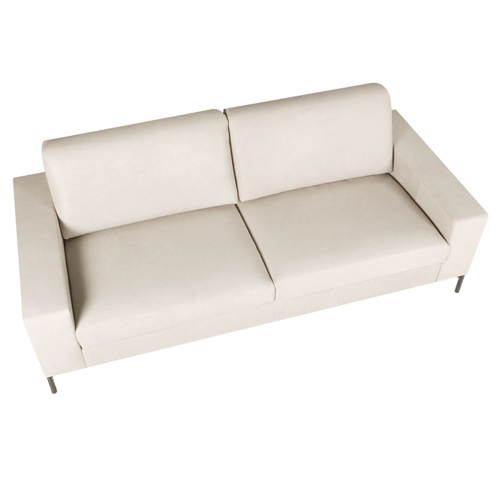 Lantana Italian Leather Three Seater Sofa-0