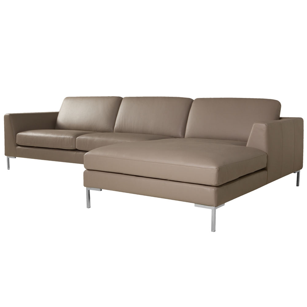 Allegra Italian leather Set 2 Sofa With Chaiselongue-0