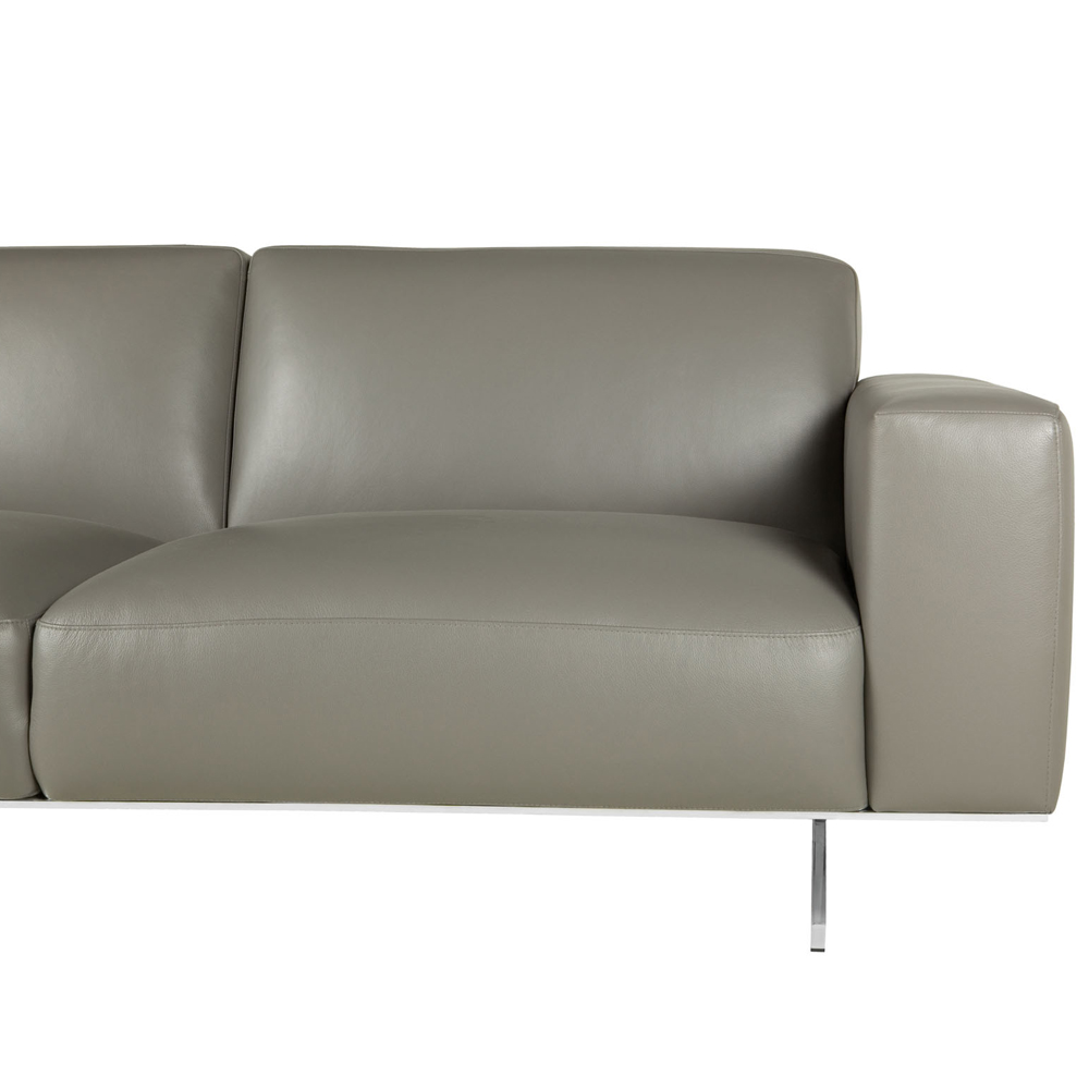 Mathis Italian Leather Three Seater With Divan-0