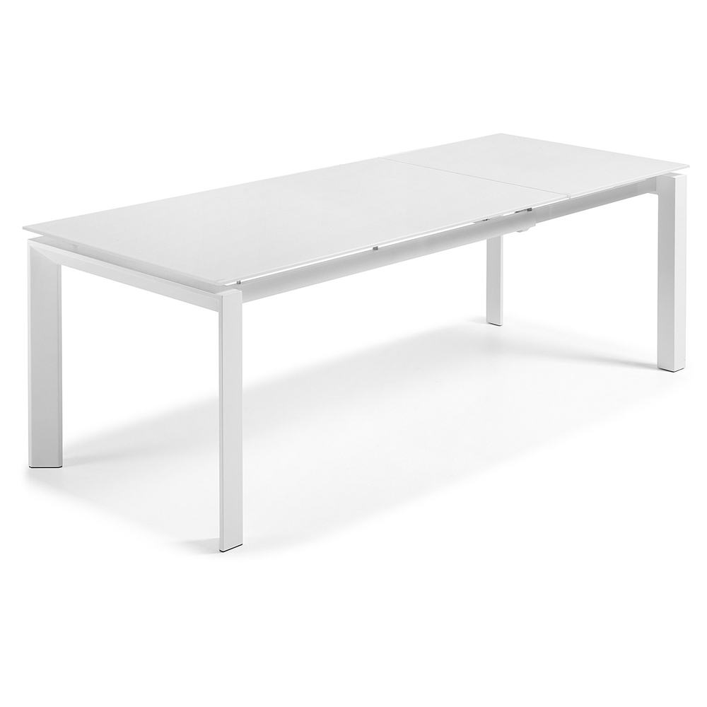 SANTINO WHITE EXTENDABLE DINING TABLE LARGE-0