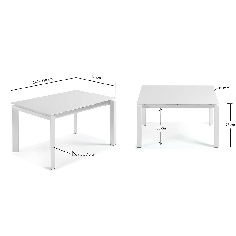 SANTINO WHITE EXTENDABLE DINING TABLE SMALL -33839