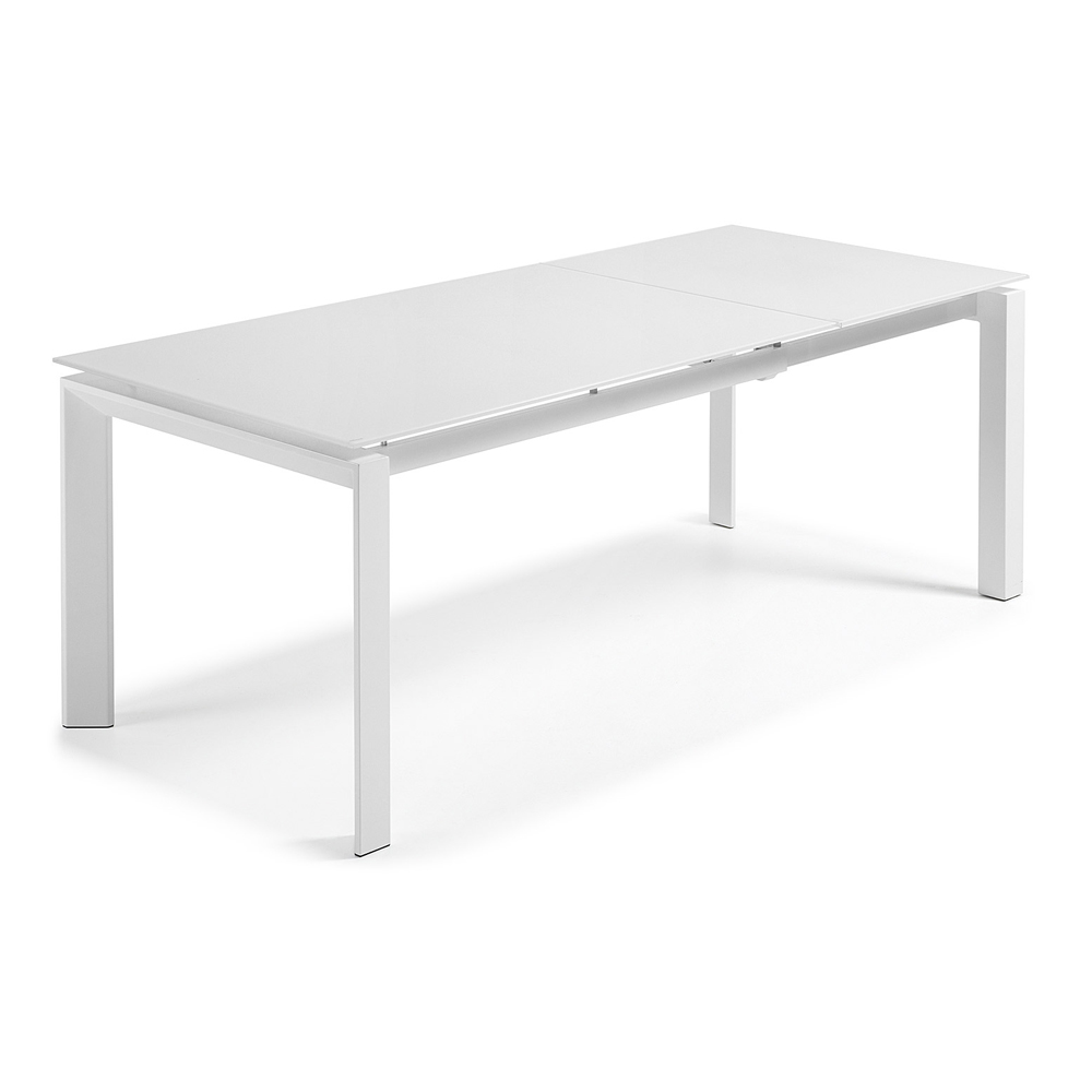 SANTINO WHITE EXTENDABLE DINING TABLE SMALL -0