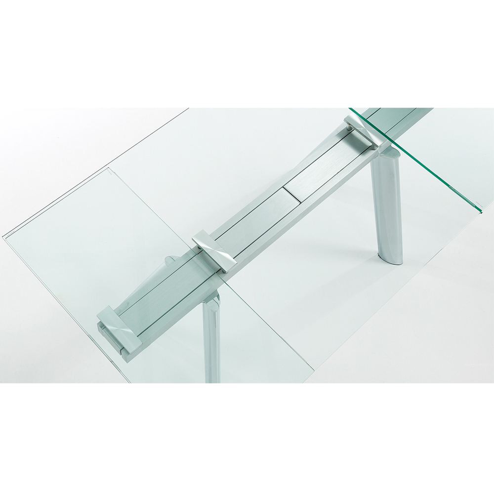 ENZO CLEAR GLASS EXTENDABLE DINING TABLE -33873