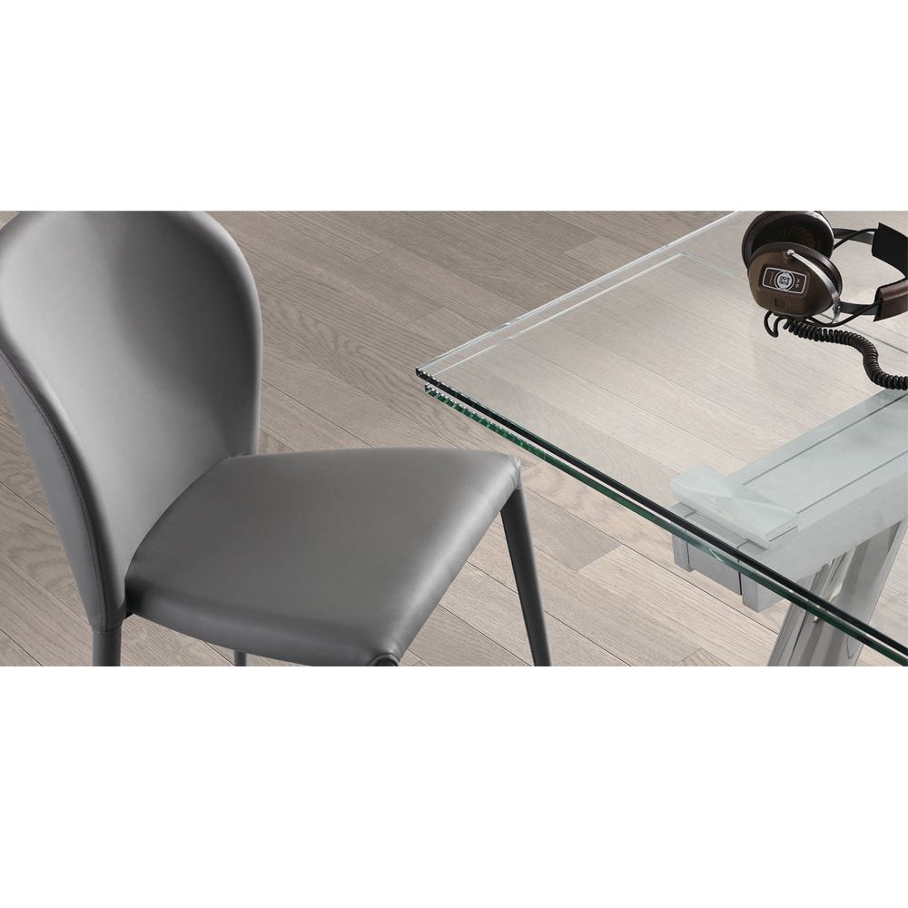 ENZO CLEAR GLASS EXTENDABLE DINING TABLE -33875