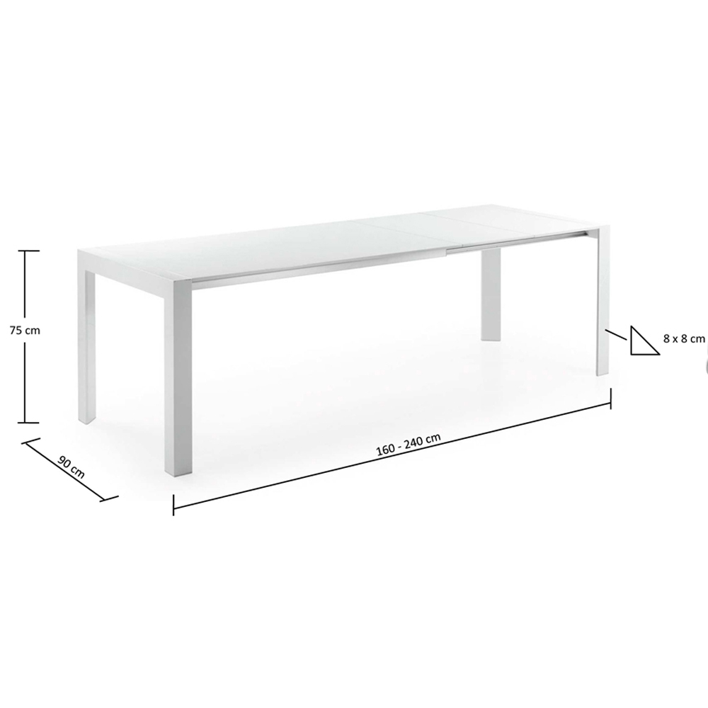 MONETTI EXTENDABLE DINING TABLE LARGE-33865