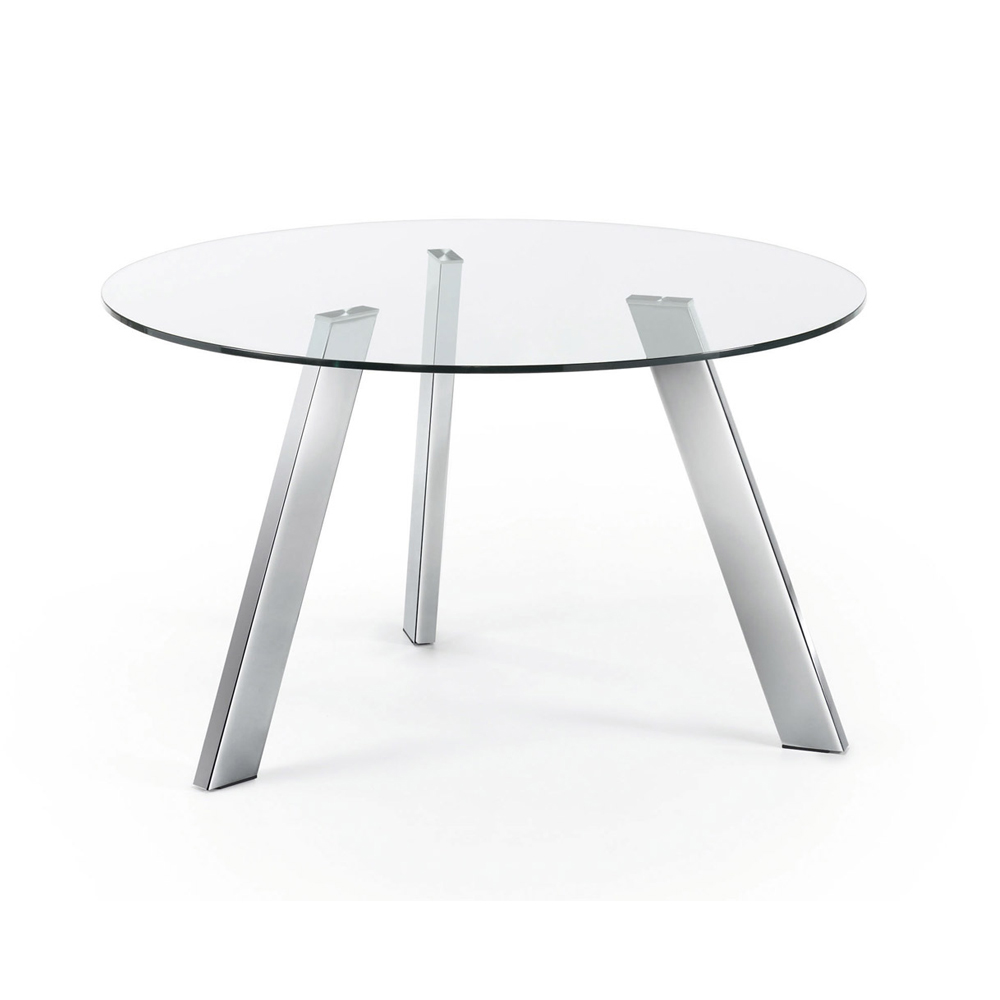 CAPRICE 130CM DIAM LARGE ROUND GLASS TABLE-0