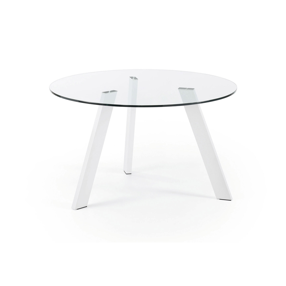 CAPRICE 130CM DIAM LARGE ROUND GLASS TABLE-33937