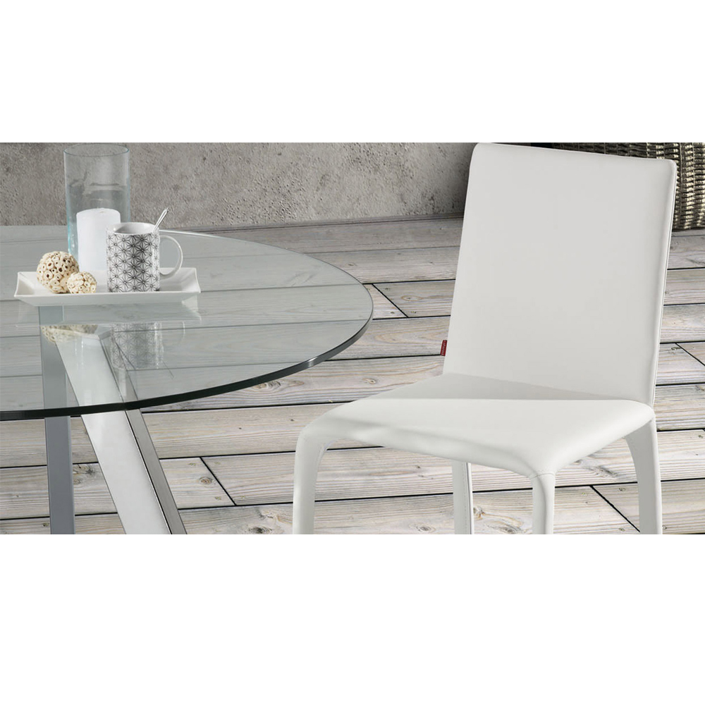 CAPRICE 130CM DIAM LARGE ROUND GLASS TABLE-33935