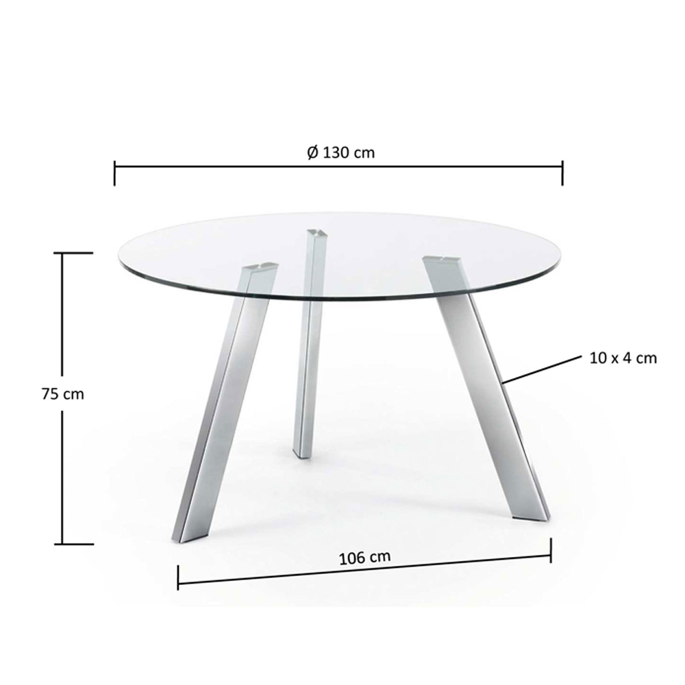 CAPRICE 130CM DIAM LARGE ROUND GLASS TABLE-33934