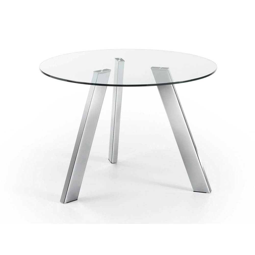CAPRICE 110CM DIAM SMALL ROUND GLASS TABLE-0