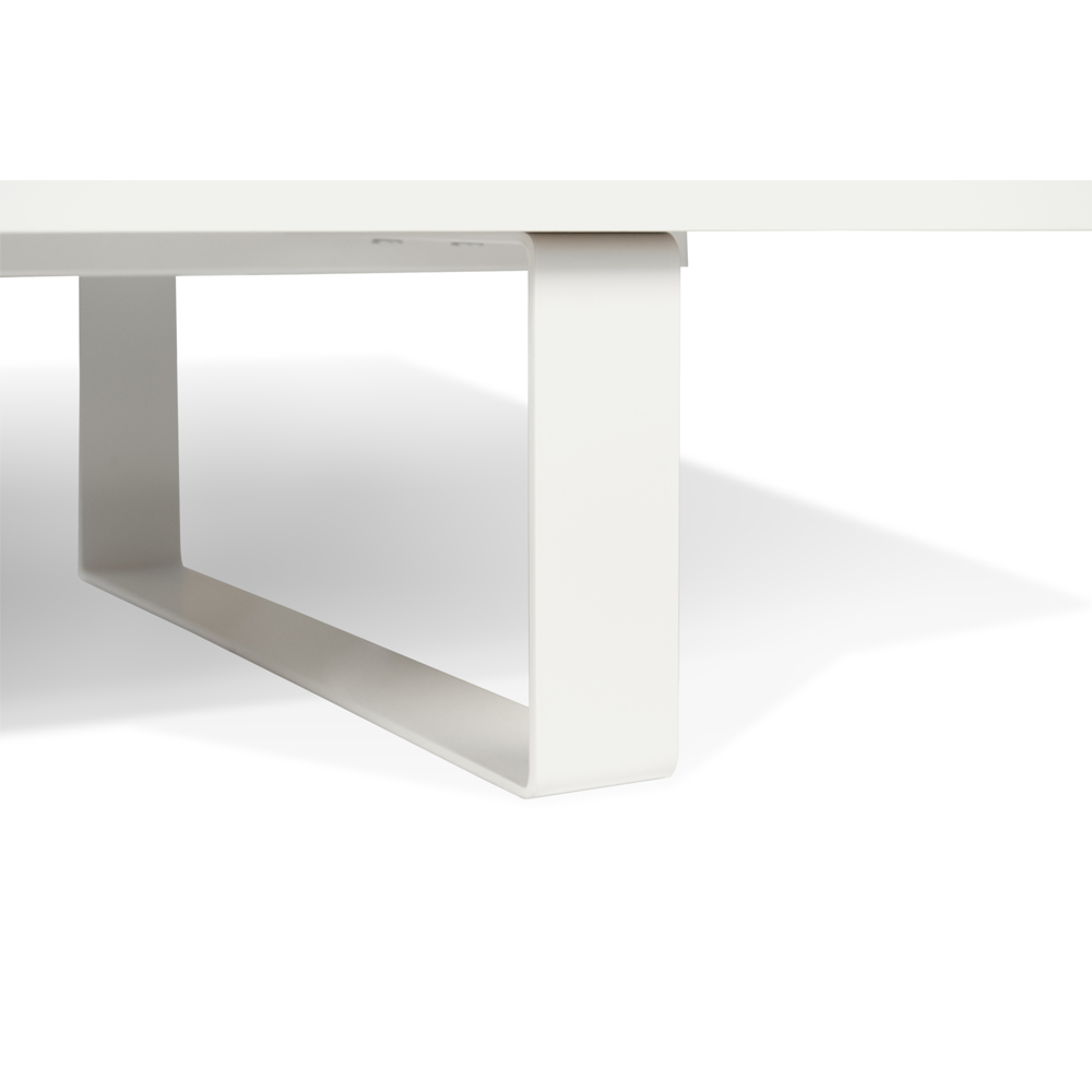 SANDRO TV TABLE WITH SLIDING DOORS IN PURE WHITE AND WALNUT, WHITE LEGS-35091
