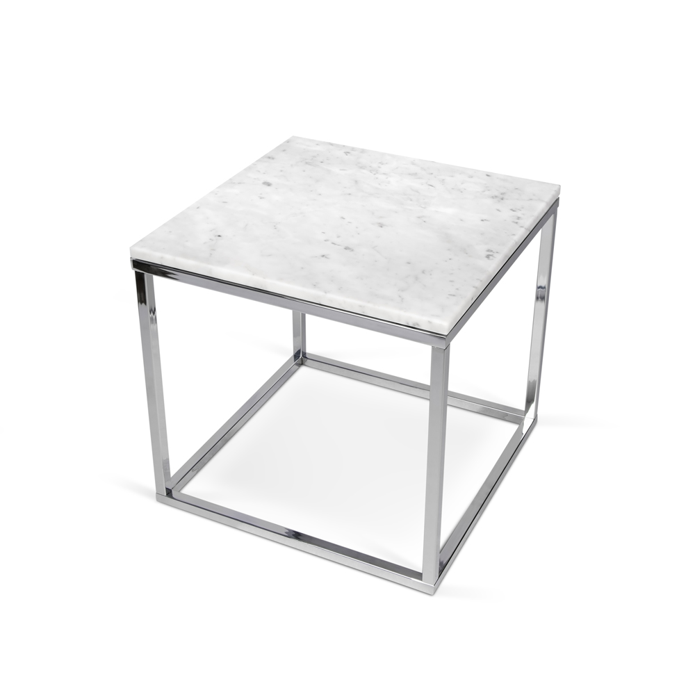 PRIMO BLACK OR WHITE ITALIAN MARBLE TOP END TABLE-0