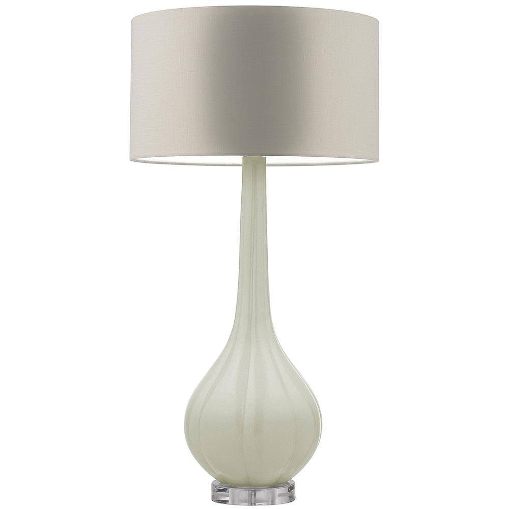 HEATHFIELD ELENOR SEA FOAM CRACKLE TABLE LAMP WITH GLAZE STONE SHADE -0