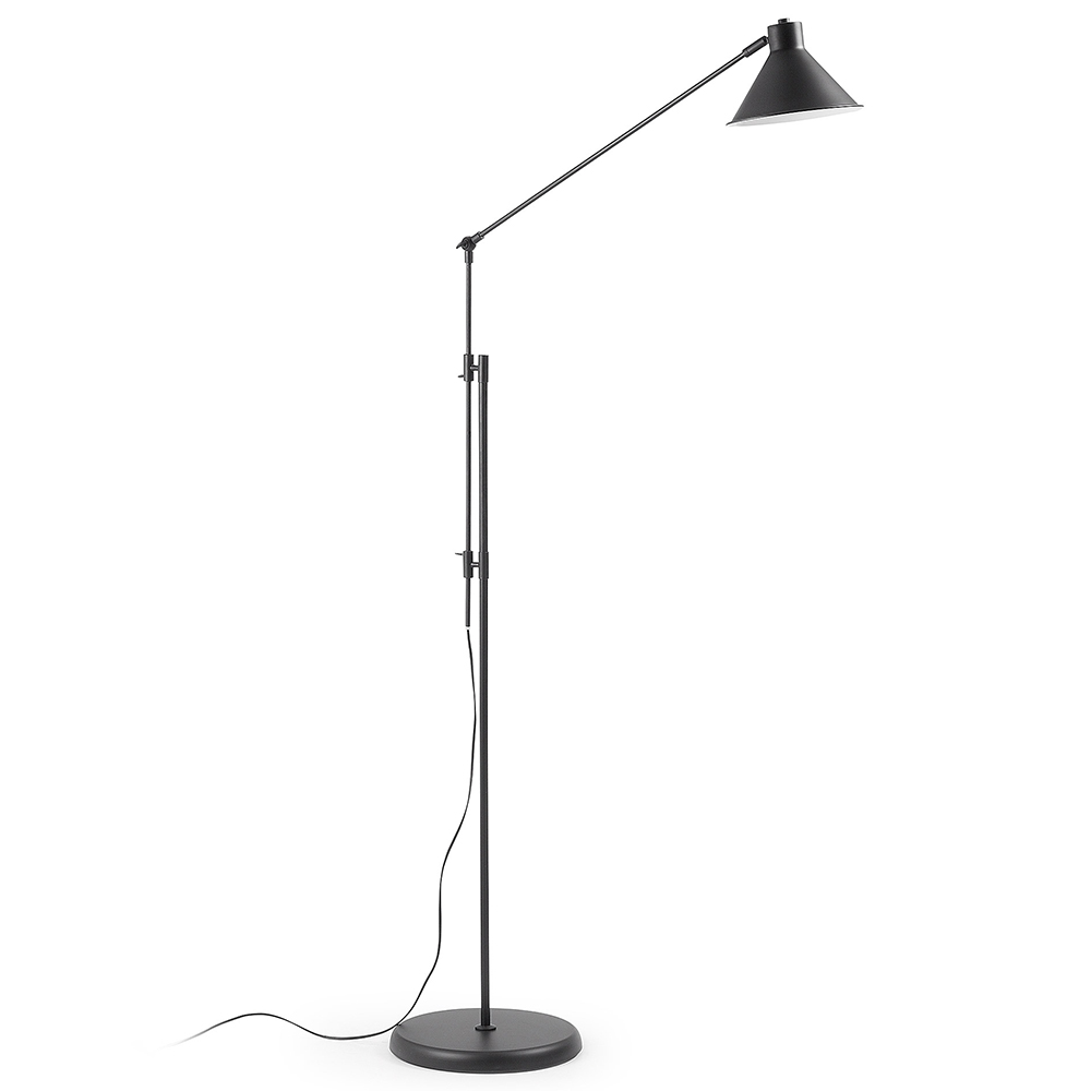 MODINE BLACK FLOOR LAMP -0