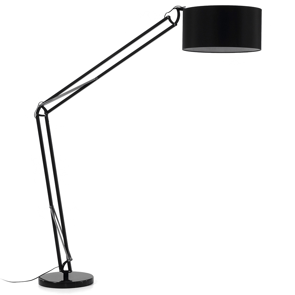 ASENTA FLOOR LAMP WITH BLACK SHADE-0