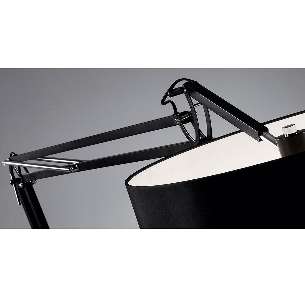 ASENTA FLOOR LAMP WITH BLACK SHADE-35981