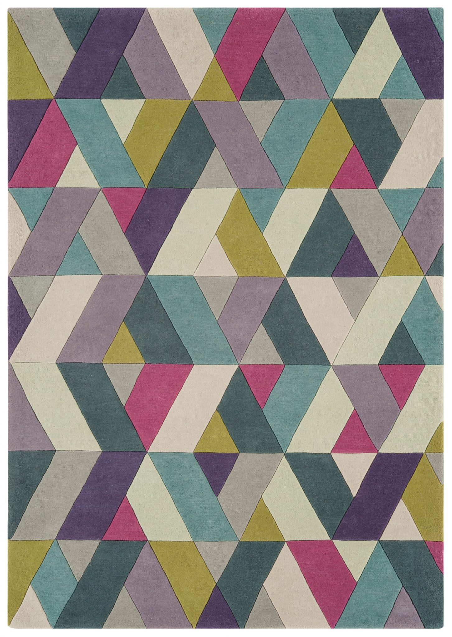 HARLEQUIN CHEVRON BLUE GREEN RUG-0