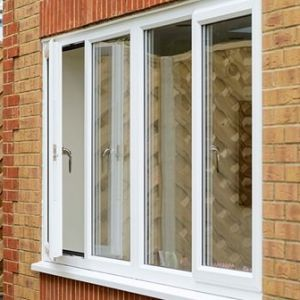 White Knight uPVC casement windows open