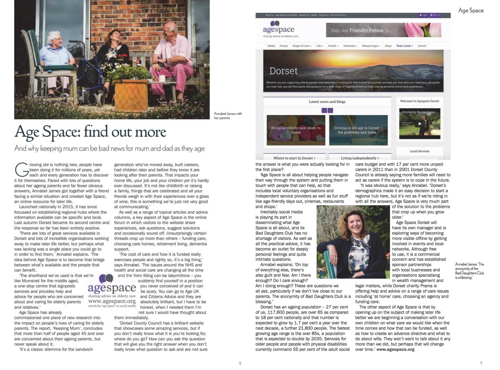 'Age Space: find out more' in Senior Living issue 18 (March 2018)