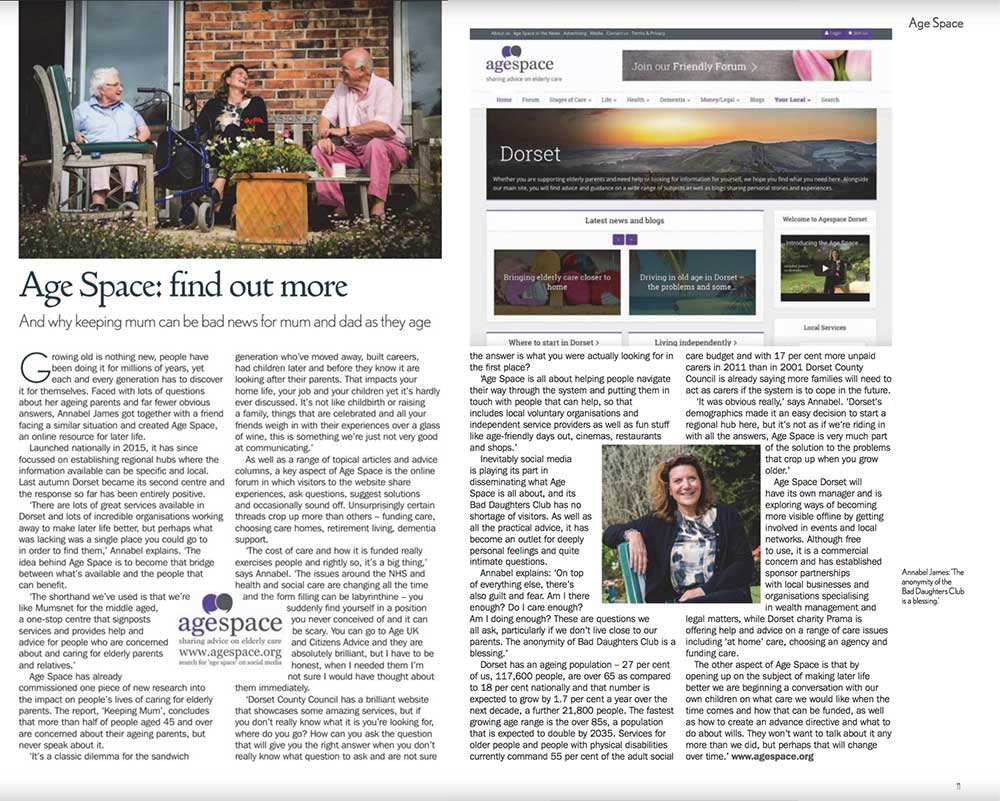 Age Space featured in Senior Living 2018