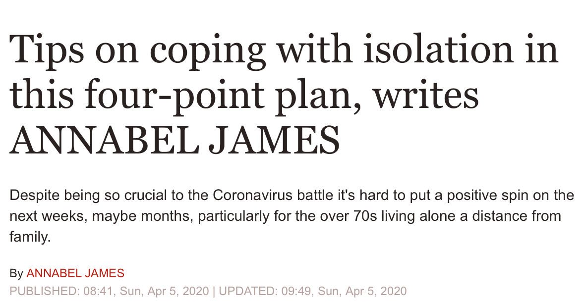 Express 5 April 2020 coping during coronavirus
