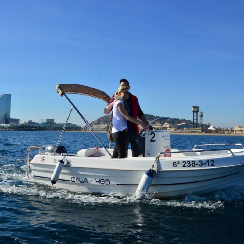 Unlicensed private boat hire, Barcelona