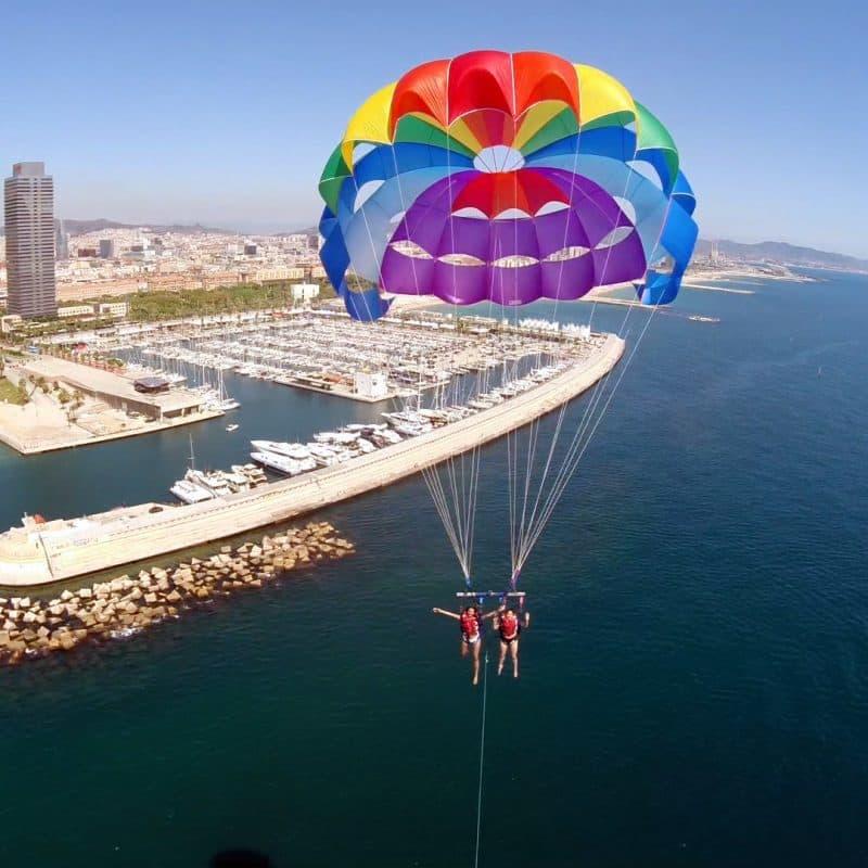 Parascending and parasailing, Barcelona