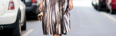 metaliczna spódnica