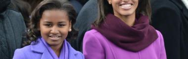 Córki Obamy lubią różowe odcienie płaszczy