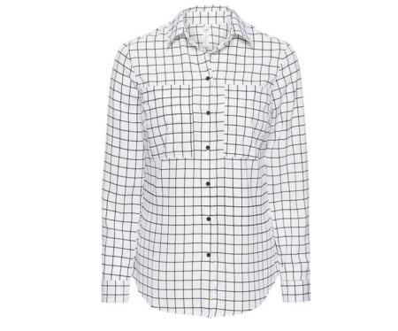 Biała koszula w kratę