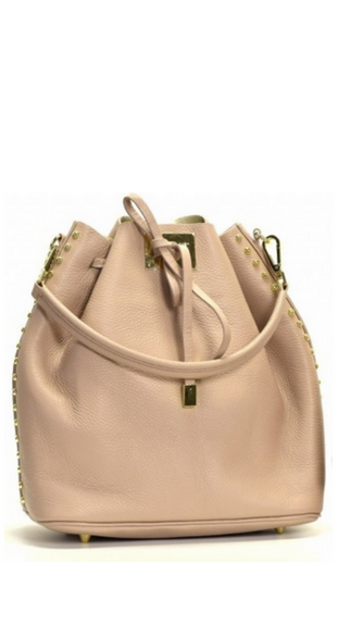 Beżowa torebka typu worek