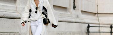 długi sweter w kolorze białym