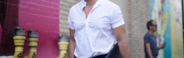 modna męska koszula z krótkim rękawem