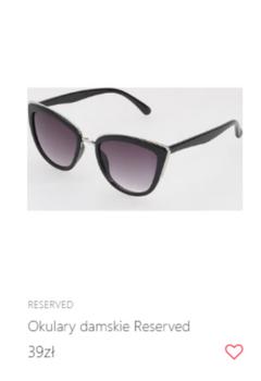 Modne okulary w motylim kształcie