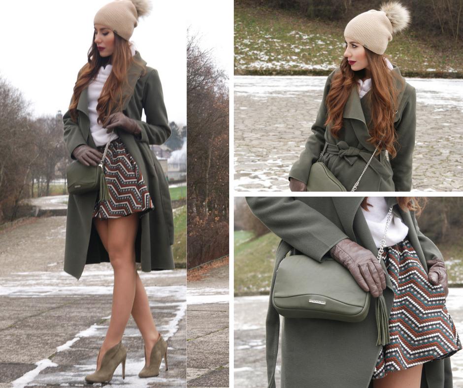 Spódnica zimą zamiast jeansów to zawsze dobre rozwiązanie!