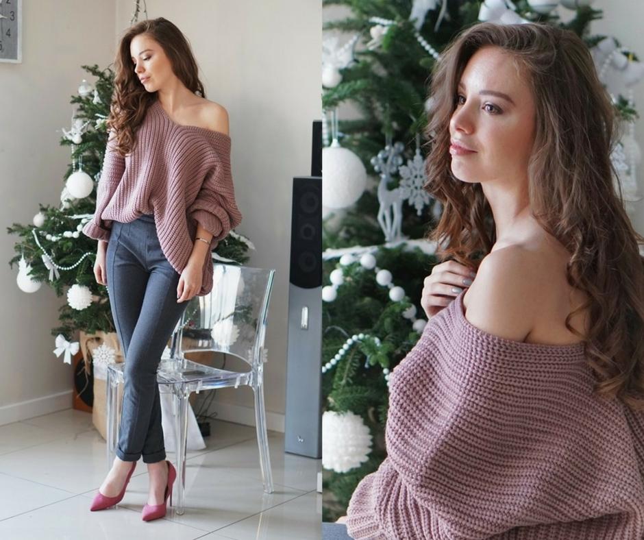 Sweter z dużym dekoltem - seksowna propozycja na zimowe dni