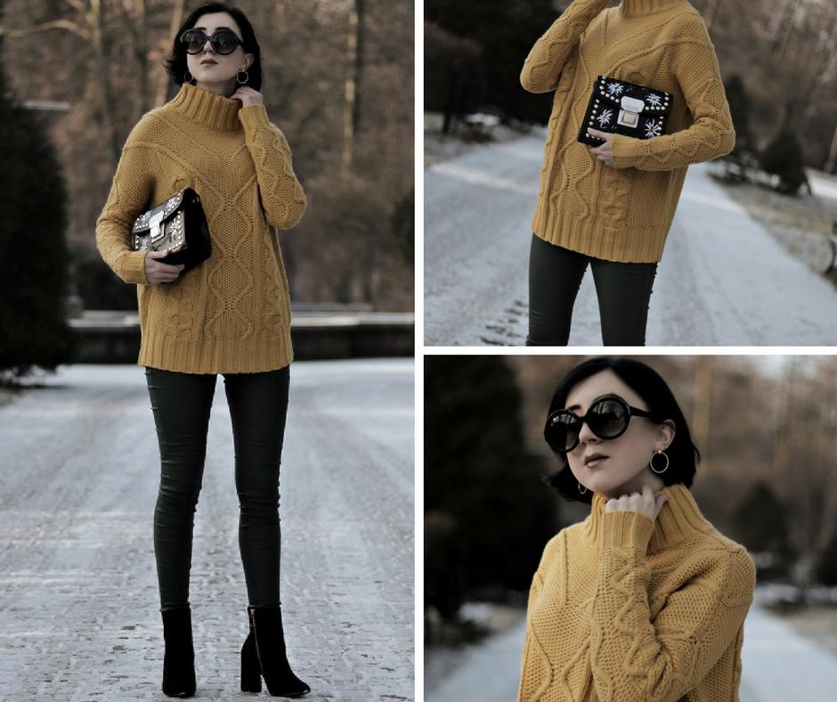 Gruby sweter - to baza każdej zimowej stylizacji