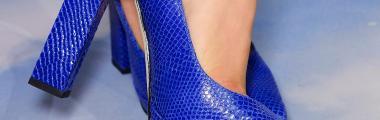 Niebieskie buty na obcasie